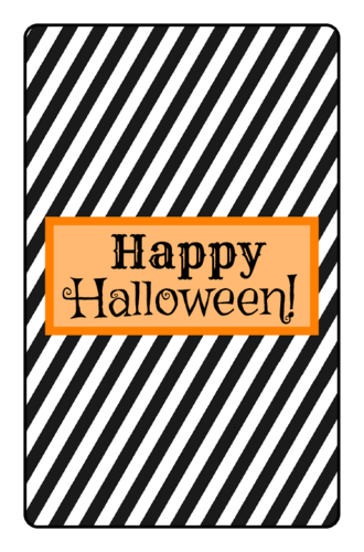 Striped Halloween Candy Bar Labels pre-designed label template for OL800