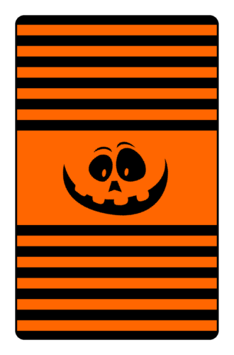 Jack-o'-Lantern Candy Labels pre-designed label template for OL800