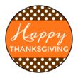 """Happy Thanksgiving"" Circle Labels"