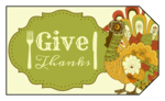 Thanksgiving Gift Tag Labels