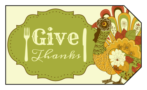 "OL1763 - 1.75"" x 3"" - Thanksgiving Gift Tag Labels"