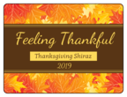 Fall Leaves Thanksgiving Wine Bottle Labels