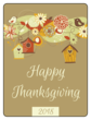 Bird House Thanksgiving Wine Bottle Labels