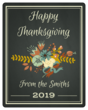 Floral Thanksgiving Wine Bottle Labels