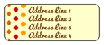Fall Color Polka Dot Address Labels