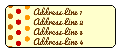 "OL875 - 2.625"" x 1"" - Fall Color Polka Dot Address Labels"