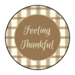 """Feeling Thankful"" Circle Labels"