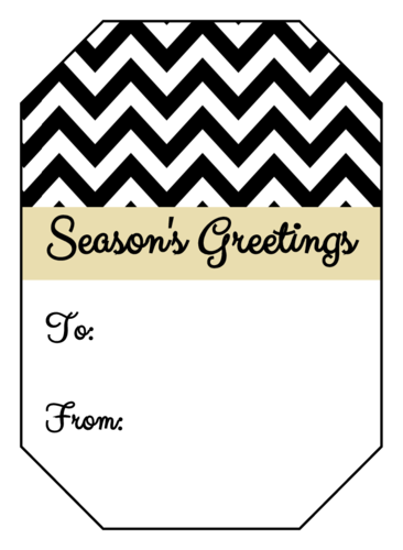 Chevron Gift Tag Labels pre-designed label template for OL1186