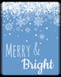Snowflake Wine Bottle Labels