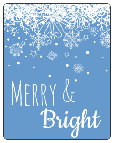 Snowflake Wine Bottle Labels pre-designed label template for OL162
