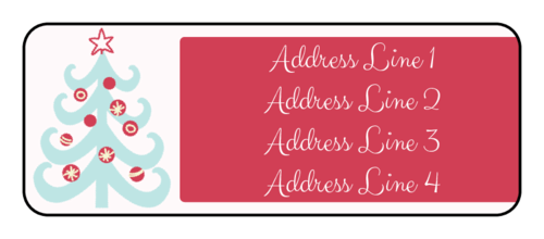 "OL875 - 2.625"" x 1"" - Christmas Tree Address Labels"