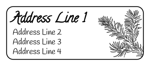 Pine Needle Address Labels pre-designed label template for OL875
