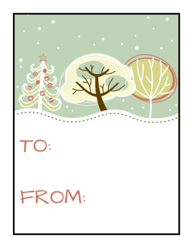 "OL1502 - 2"" x 1.5"" - Frosty Gift Tag Labels"