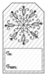 Snowflake Gift Tag Labels
