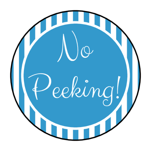 "OL2088 - 1.5"" Circle - ""No Peeking!"" Gift Labels"