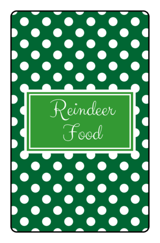 """Reindeer Food"" Mini Candy Bar Labels pre-designed label template for OL800"