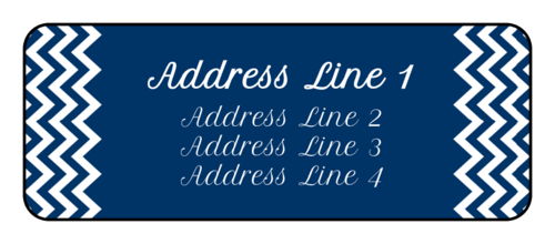 "OL875 - 2.625"" x 1"" - Happy Hanukkah Address Labels"