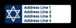 Star of David Hanukkah Address Labels