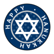 """Happy Hanukkah"" Circle Labels"