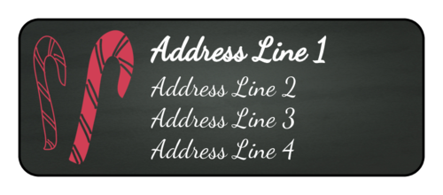 "OL875 - 2.625"" x 1"" - Candy Cane Address Labels"