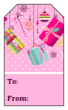 Pink Christmas Gift Tag Labels