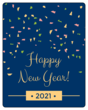 Confetti New Years Wine Bottle Labels