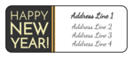 """Happy New Year!"" Address Labels"