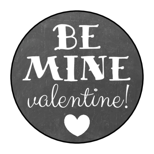 "OL2088 - 1.5"" Circle - ""Be Mine Valentine!"" Circle Labels"