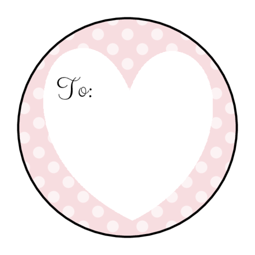 "OL2088 - 1.5"" Circle - Valentine's Day Gift Tag Labels"
