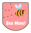 """Bee Mine!"" Valentine's Day Hand Sanitizer Labels"