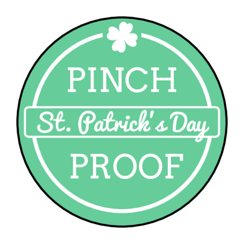 "OL2088 - 1.5"" Circle - ""Pinch Proof"" St. Patrick's Day Circle Labels"