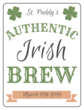 Authentic St. Paddy\'s Day Brew Beer Bottle Labels