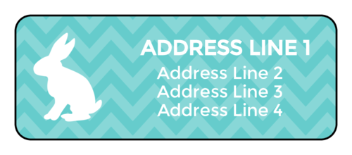 Pink Easter bunny address label template