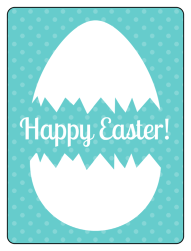 Beer bottle label template for Easter beers - hatched egg that says Happy Easter