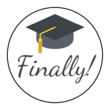 """Finally!"" Graduation Circle Labels"
