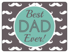 """Best Dad Ever!"" Father\'s Day Bottle Labels"