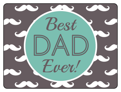 """Best Dad Ever!"" Father's Day Bottle Labels pre-designed label template for OL500"