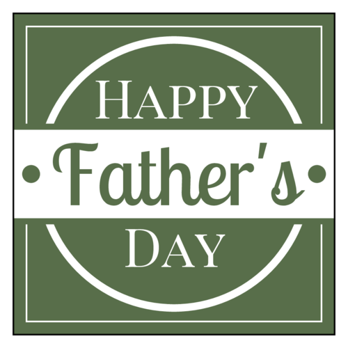 "OL805 - 3"" x 3"" Square - Father's Day Labels"