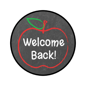 "OL5275 - 0.75"" Circle - Back to School Candy Favor Labels"