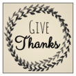 """Give Thanks"" Thanksgiving Wine Bottle Labels"