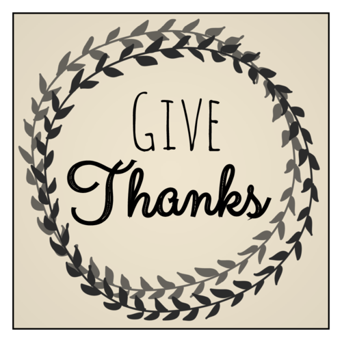 "OL805 - 3"" x 3"" Square - ""Give Thanks"" Thanksgiving Wine Bottle Labels"