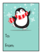 Penguin Gift Tag Labels