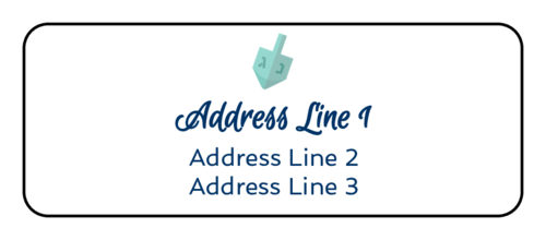"OL875 - 2.625"" x 1"" - Dreidel Address Labels"
