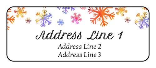 "OL875 - 2.625"" x 1"" - Watercolor Snowflake Address Labels"