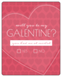 Galentine\'s/Valentine\'s Day Wine Bottle Label