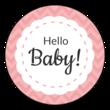 """Hello Baby!"" Circle Labels"