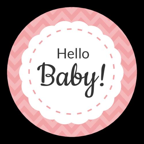 """""""Hello Baby!"""" Circle Labels (Circle)"""
