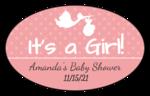 """It's a Boy/Girl!"" Oval Labels"