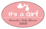 """It's a Boy/Girl!"" Oval Labels"