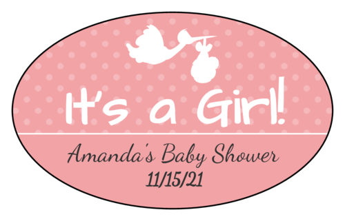 """It's a Boy/Girl!"" Oval Labels pre-designed label template for OL894"